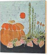 Pumpkin And Asparagus Wood Print