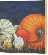 Pumpkin And Gourds Wood Print