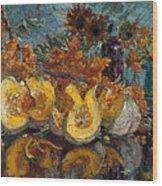 Pumpkin And Sea Buckthorn  Wood Print