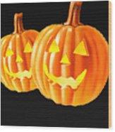 Pumpkin Double  Wood Print