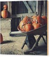 Pumpkin Family Wood Print