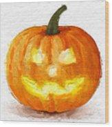 Pumpkin Glow Wood Print
