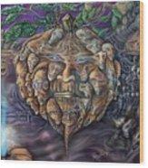 Pumpkin Morph Cycle Wood Print