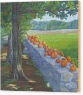 Pumpkin Muster Wood Print