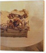 Pumpkin Pie With Walnuts Wood Print