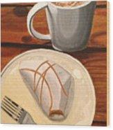 Pumpkin Scone And Pumpkin Latte Wood Print