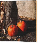 Pumpkin Time Wood Print