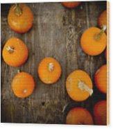 Pumpkin Tops Wood Print