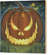 Pumpkinfire Wood Print