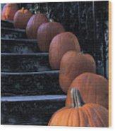 Pumpkins - Halloween Wood Print