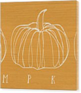 Pumpkins- Art By Linda Woods Wood Print