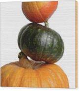 Pumpkins Wood Print