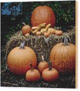 Pumpkins In The Dark Wood Print