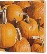 Pumpkins Pile 1 Wood Print