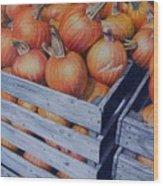 Pumpkins Two Wood Print