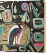 Puna Ibis Wood Print