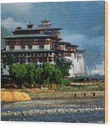 Punakha Dzong Wood Print