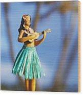 Punaluu, Hula Doll Wood Print