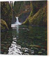 Punchbowl Falls Wood Print