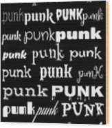 Punk 2 Wood Print