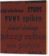 Punk Stuff Poster 1 Wood Print