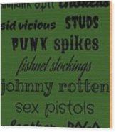 Punk Stuff Poster 3 Wood Print