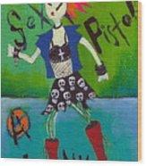 Punk Rocks Her Wood Print