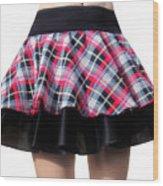 Punk Style Mini Skirt - Ameynra Fashion Wood Print