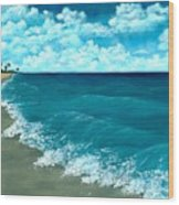 Punta Cana Beach Wood Print