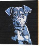 Puppy Dog Graphic Novel Drawing Wood Print