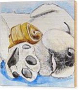 Puppy Dreams Wood Print
