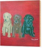 Puppy Love Wood Print