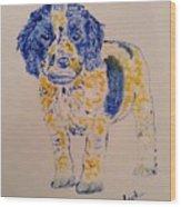 Puppy Stare Wood Print