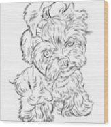Puppy_printfilecopy Wood Print