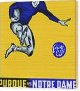 Purdue V Notre Dame 1947 Program Wood Print