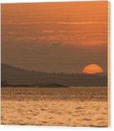 Pure Golden Sunset Wood Print