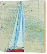 Pure Michigan Boating Wood Print