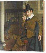 Puritan Barracks Wood Print