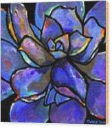 Purple Agave Wood Print