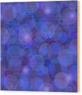 Purple And Blue Abstract Wood Print by Frank Tschakert