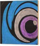 Purple And Blue Eyeball In Saint Augustine Florida Wood Print
