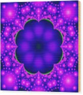 Purple And Pink Glow Fractal Wood Print