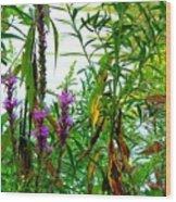 Purple And Yellow Wood Print