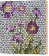Purple Asters II  Wood Print