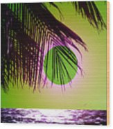 Purple Beach Wood Print