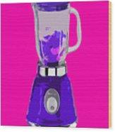 Purple Blender Wood Print