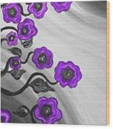 Purple Blooms Wood Print by Brenda Higginson
