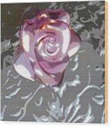 Purple Blossom Wood Print