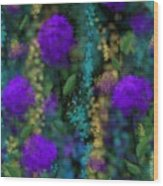 Purple Blues Wood Print