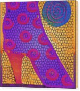 Purple Boot Wood Print